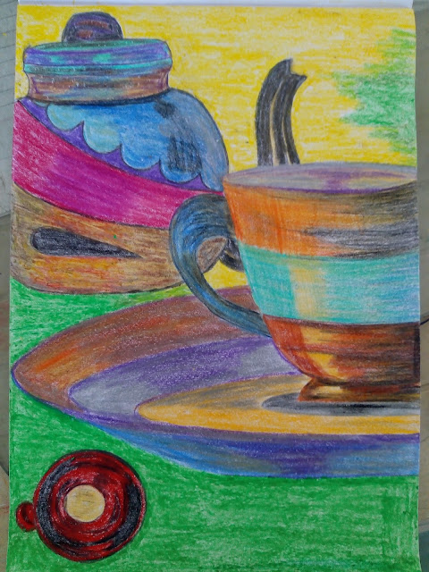 Kettle cup drawing image