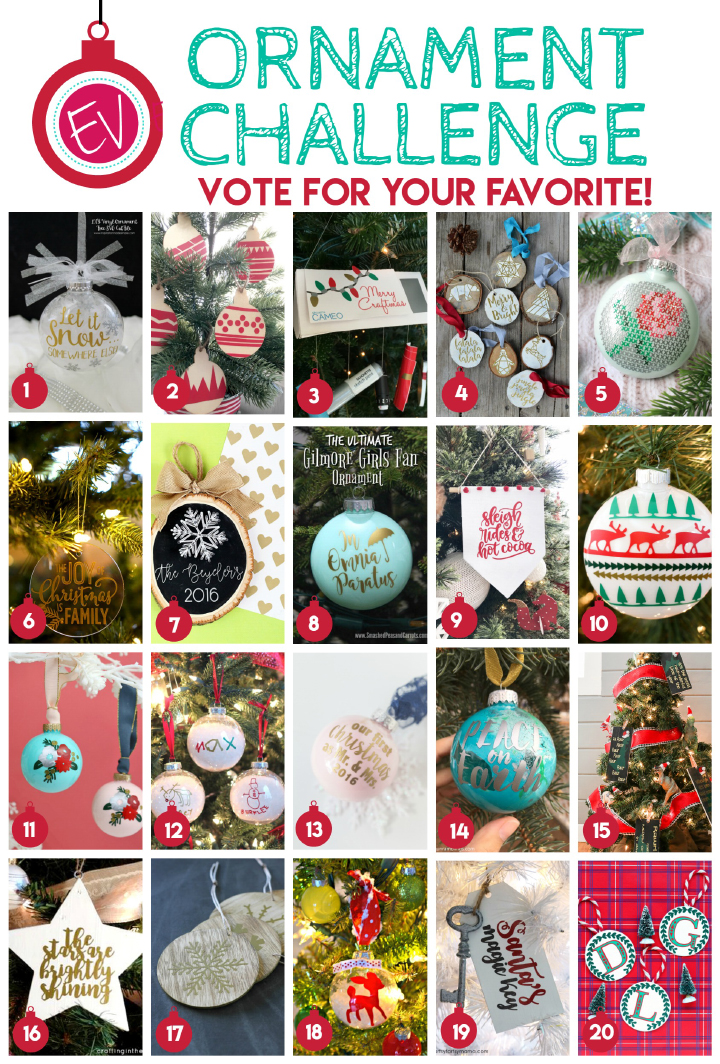 Expressions Vinyl Ornament Challenge - Vote for your favorite DIY Ornament!