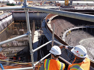 Construction at Plant Vogtle, Georgia, Dec. 1, 2014. (Credit: USNRC, CC BY) Click to Enlarge.