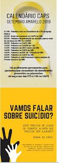 Departamento de Saúde realiza campanha do  Setembro Amarelo