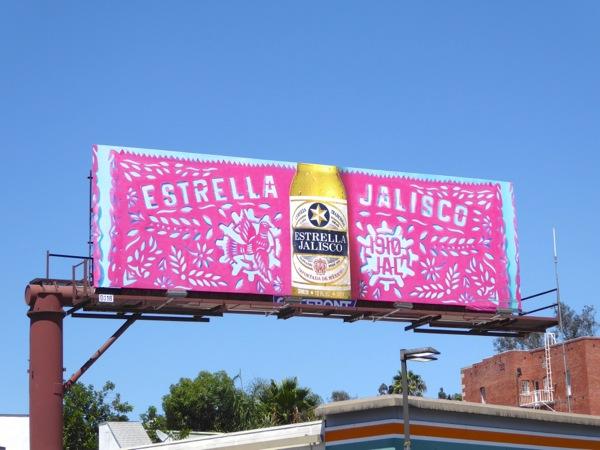 Estrella Jalisco Beer Papel Picado billboard