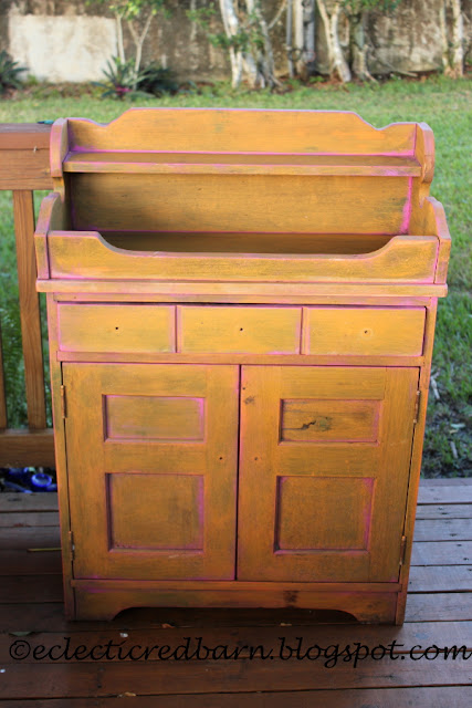 Eclectic Red Barn: Original cabinet from junk pile