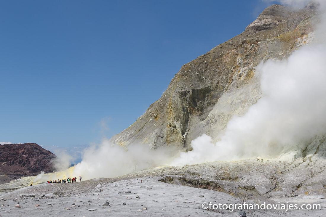 White Island, isla Blanca o Whakaari en Nueva Zelanda