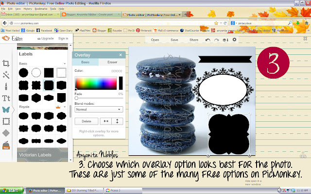 Choose an overlay with PicMonkey from www.anyonita-nibbles.com