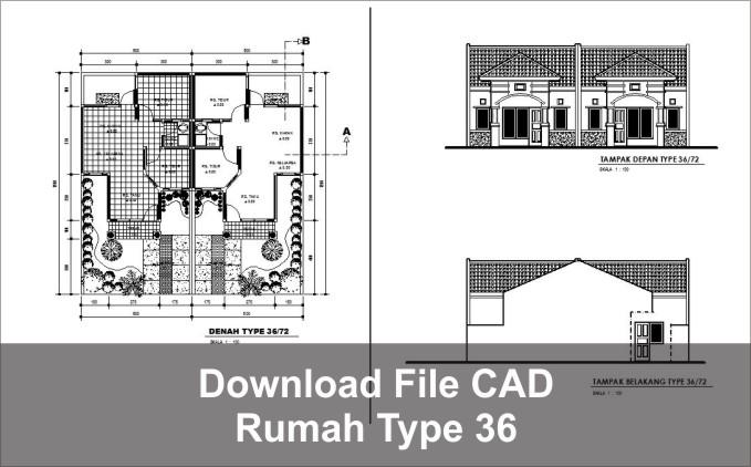 download rumah type 36 dwg autocad google drive