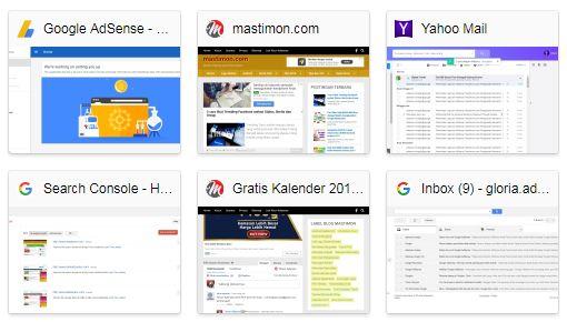 Cara hapus riwayat Internet di Google Chrome untuk daftar Adsense