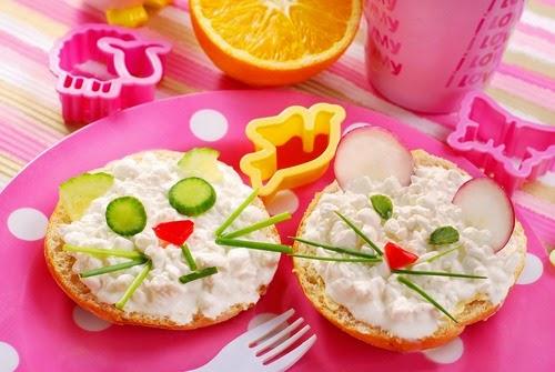 ide makanan lucu untuk anak susah makan ~ roti berbentuk tikus