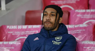 Arsenal striker Aubameyang to officially miss Fulham clash could be available for Everton