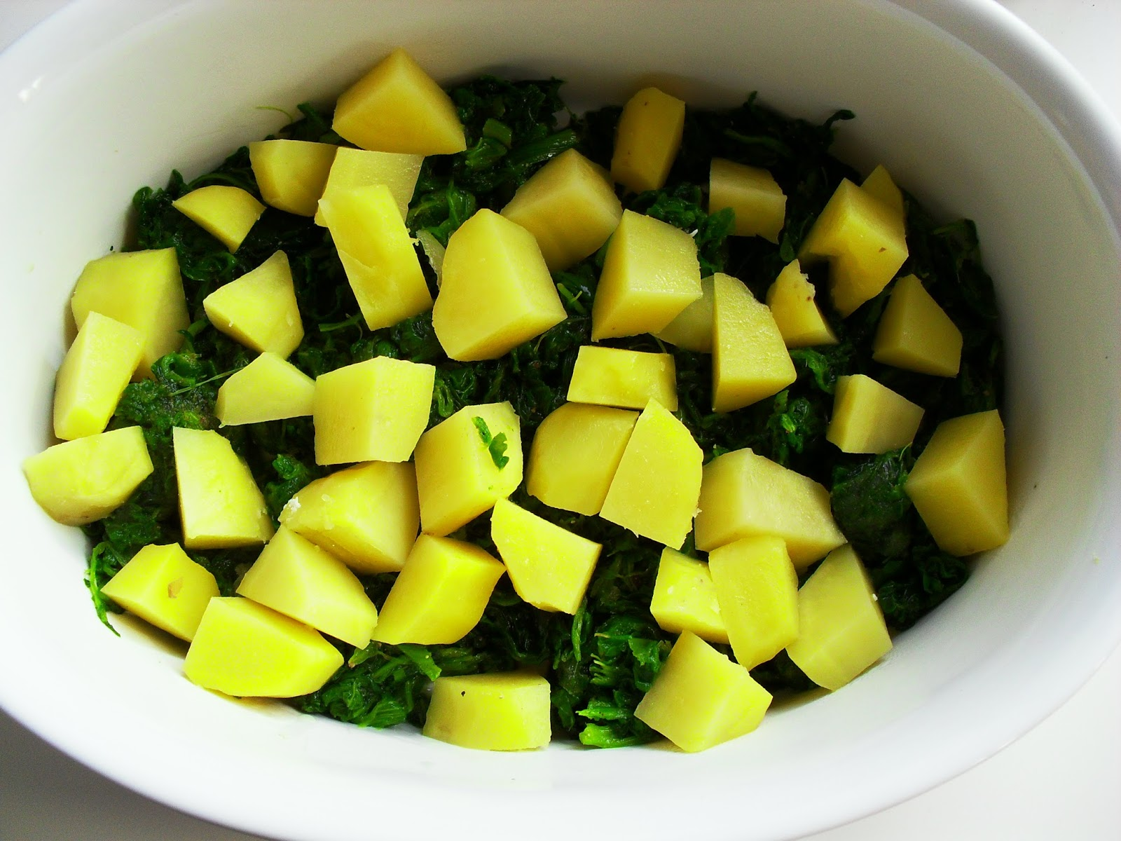 spinatauflauf mit kartoffeln