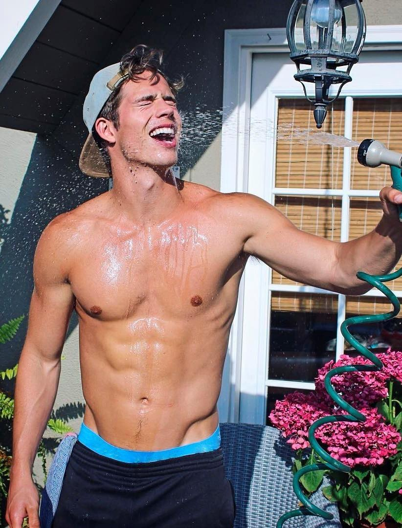 happy-shirtless-fit-college-bro-showering-outdoors-summer-fun-young-gay-hunk