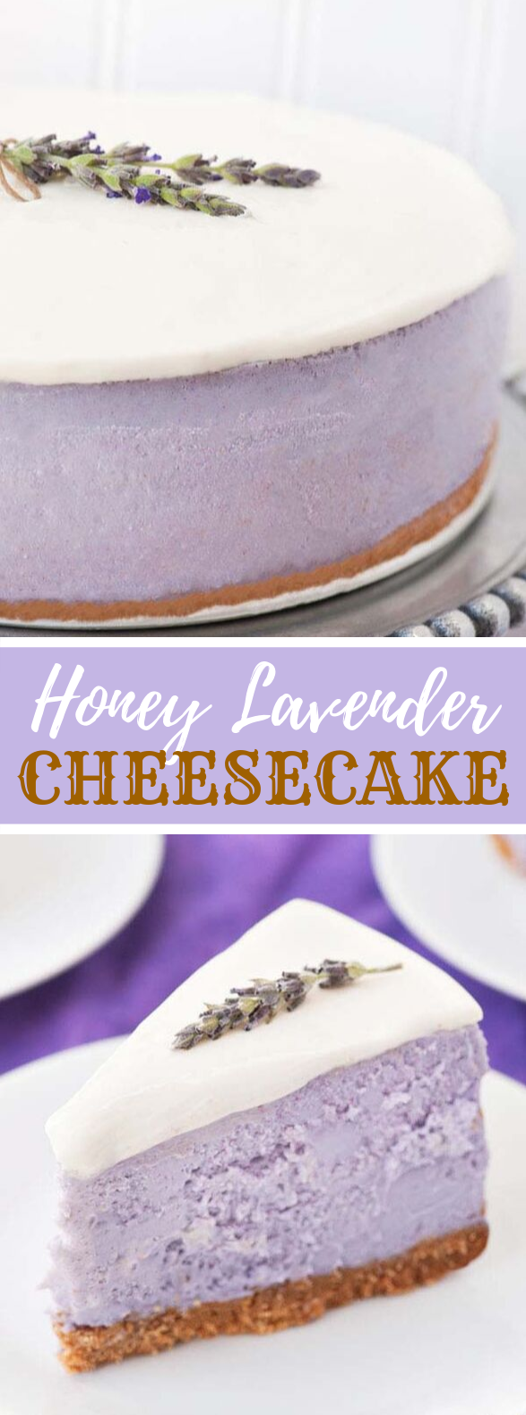 HONEY LAVENDER CHEESECAKE #desserts #cake