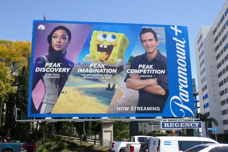 Paramount plus launch billboard