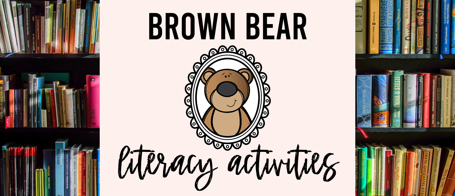 Brown Bear book study companion activities and craftivity K-1