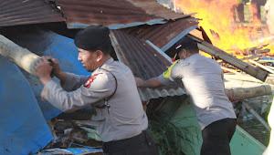 Dua Bangunan Semi Permanen di Lahan Polres Gowa Dibongkar Paksa
