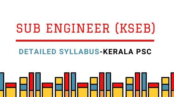 Sub Engineer KSEB Detailed Syllabus Download PDF