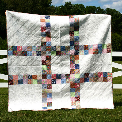 Liberty of London Lovetag Quilt Free Tutorial designed by Go-Go Kim