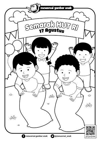 Gambar Mewarnai Hari Kemerdekaan Anak TK dan SD ...