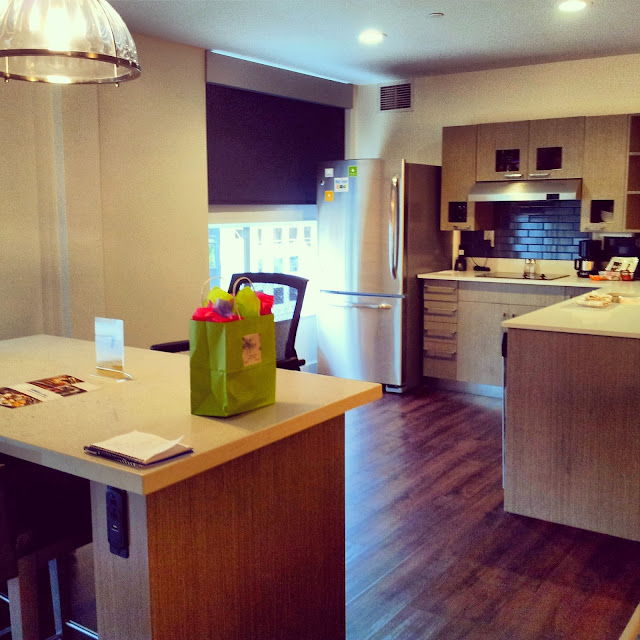 Each suite at the Hyatt House has a kitchen