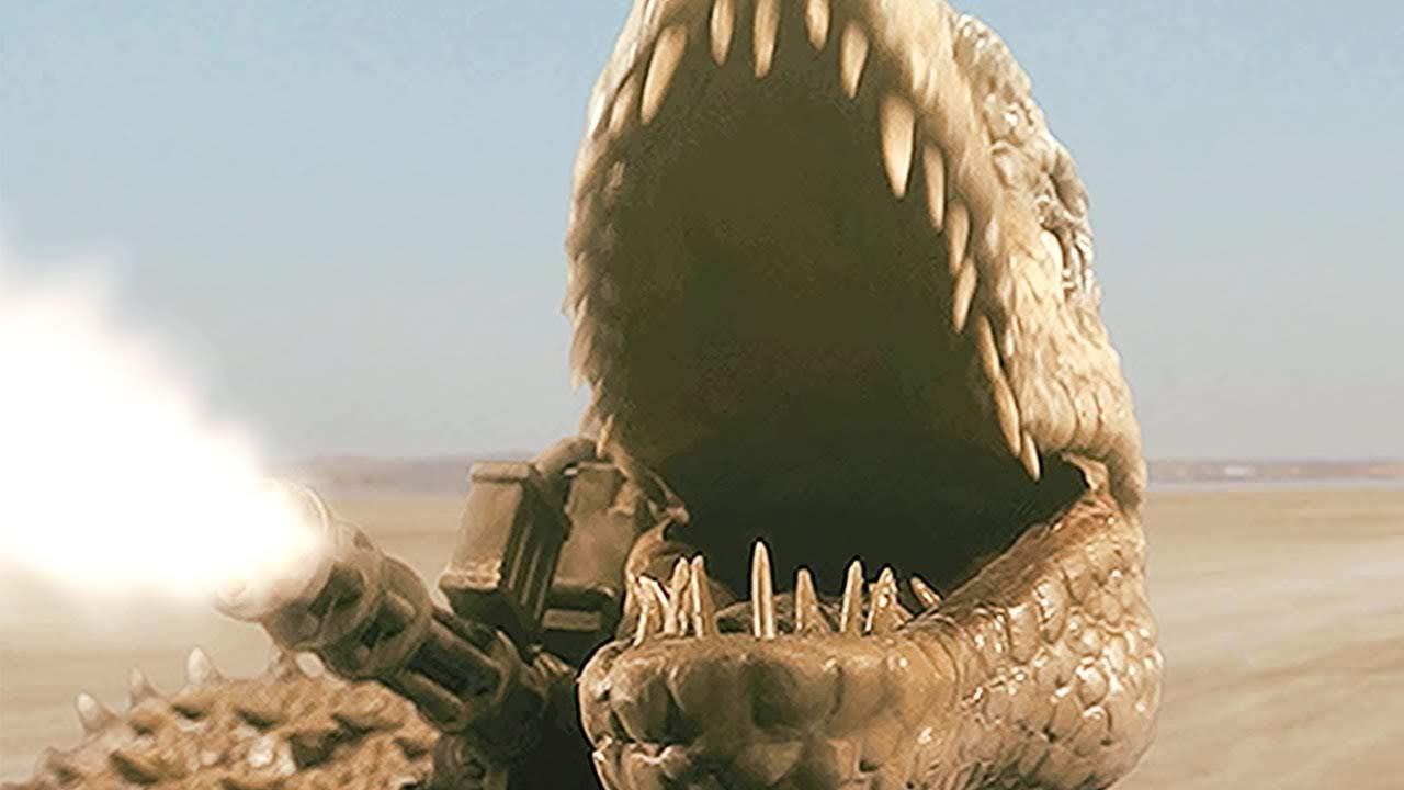 Jurassic Thunder : ゾンビ化した恐竜に武装し、最凶兵器として、軍が利用することで、第三次大戦の危機を回避しようとするバカすぎる映画「ジュラシック・サンダー」の予告編 ! !