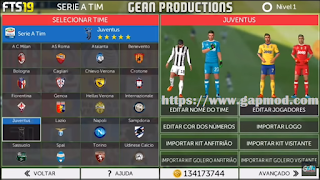 FTS Mod 19 Updated HD Graphics Cr7 in Juve by Gean Productions