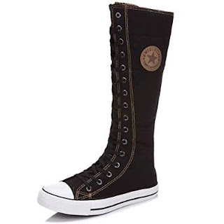 Knee High Canvas Punk Boots