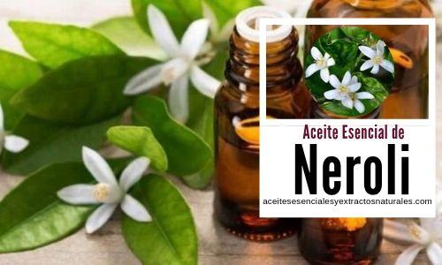 El aceite esencial de neroli se usa en aromaterapia en tratamientos para la piel como cicatrizante