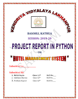 class 12th python project work