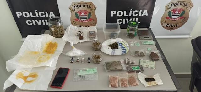 Polícia Civil de Bauru prende suspeito de fornecer drogas sintéticas para todo estado de SP