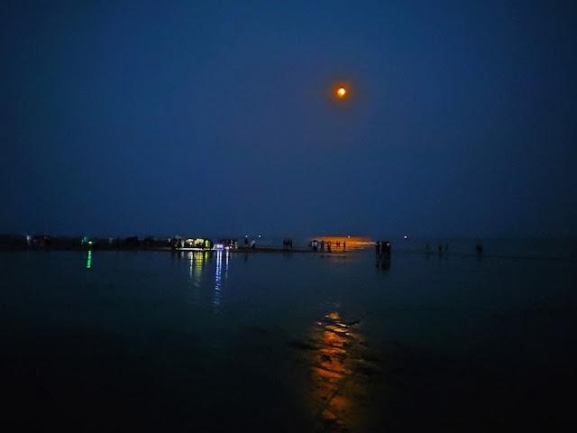 night view of mandarmani sea beach
