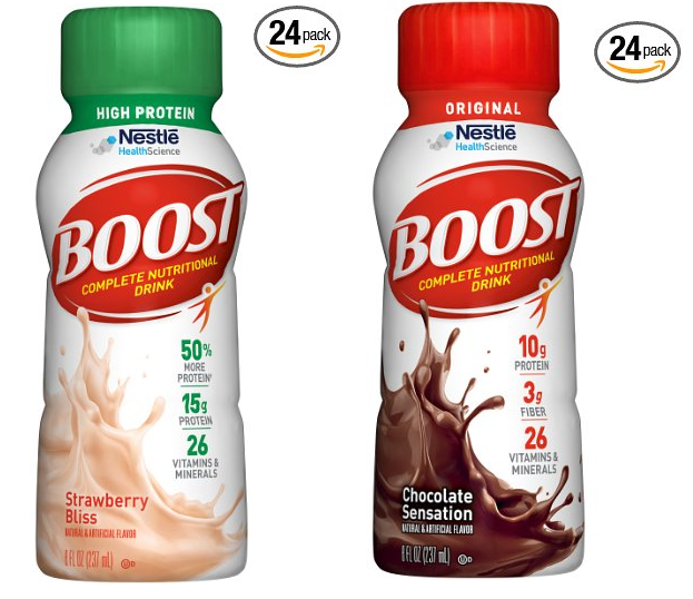 Boost Original Strawberry Bliss Complete Nutrition Drink: 24 Bottles Of 8oz Boost High Protein Complete Nutritional