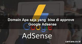 Domain Apa saja yang  bisa di approve Google Adsense