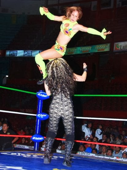 Princesa Blanca, Dalys la Caribena, wrestling, female wrestling