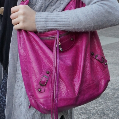 magenta 2005 agneau leather balenciaga classic RH day hobo bag | away from the blue