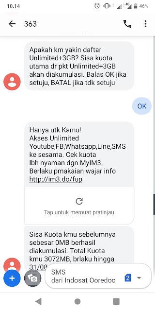 cara mengaktifkan paket gratis youtube indosat