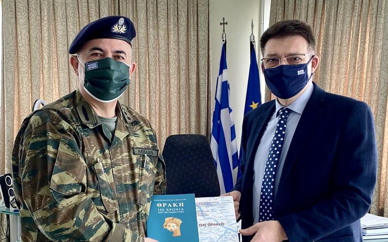 Εθιμοτυπική συνάντηση του Αντιπεριφερειάρχη Έβρου με το νέο Διοικητή της 16ης Μεραρχίας Πεζικού
