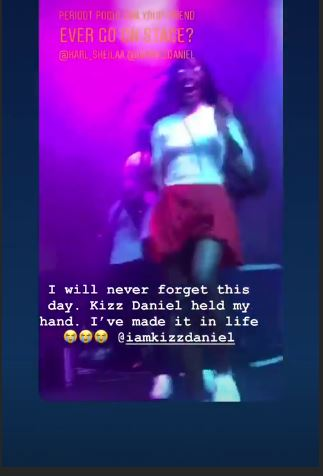 """I Have Made It In Life"" - Lady Jumps And Screams As Kizz Daniel Held Her Hand (VIDEO)"