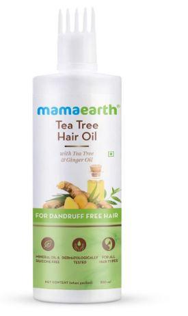 Mamaearth Tea Tree Anti Dandruff Hair Oil with Tea tree oil & Ginger for Dandruff-Free Hair - 250ml