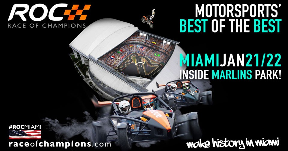 miami set to host 2017 race of champions at marlins park. Black Bedroom Furniture Sets. Home Design Ideas