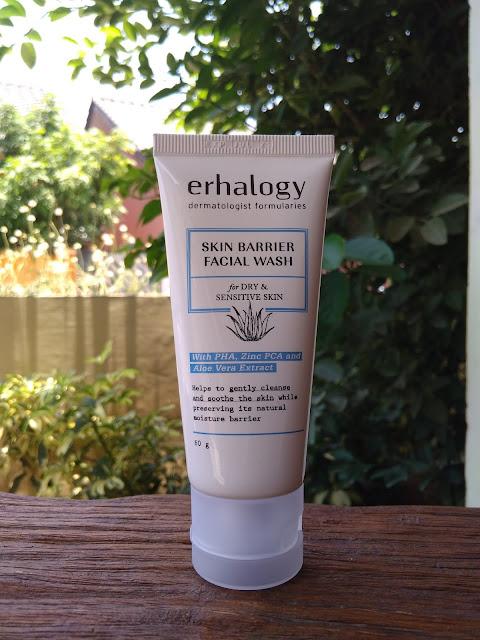 Review ERHA Skin Barrier Facial Wash for Dry & Sensitive Skin