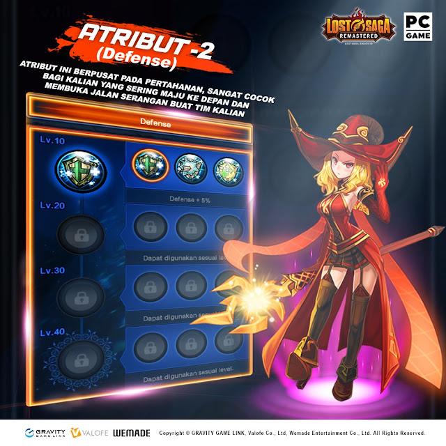 Atribut Defense Lost Saga Remastered