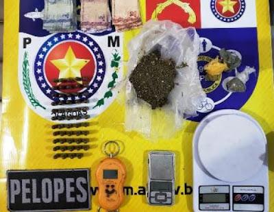 Polícia prende homem com munições e drogas em Delmiro Gouveia