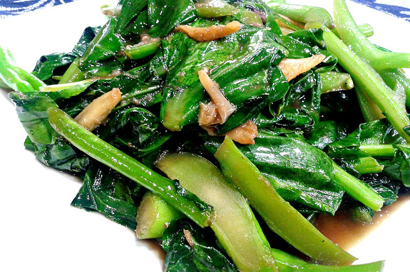 resepi sayur kailan ikan masin