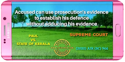 Accused can use prosecution's evidence to establish his defence without adducing his evidence