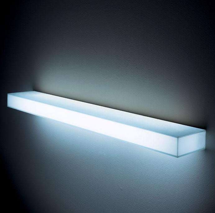 Light Light Modern Illuminated Wall Mounted Glass Shelf