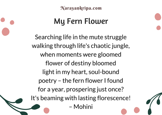 Text image for April Poetry Month Day 20 Poem: My Fern Flower