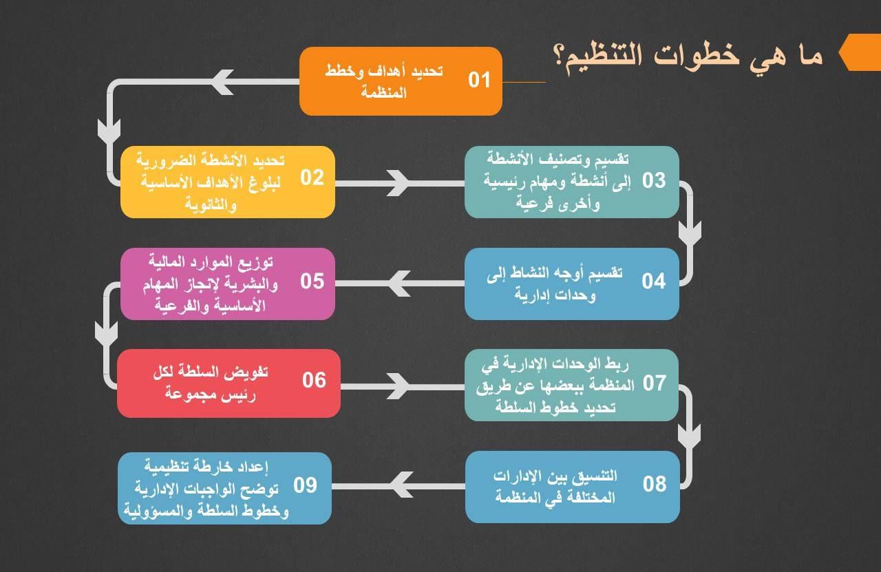 صورة عن التنظيم: التعريف والأهمية والخطوات والأنواع والأشكال والمقومات