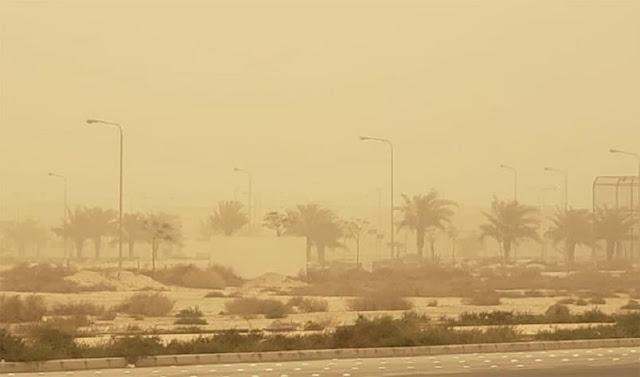 Thunderstorm, Dusty winds in most of Regions in Saudi Arabia