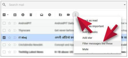 Filter in Gmail