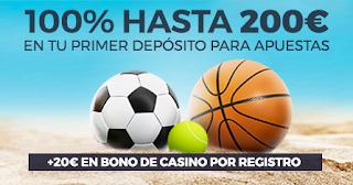 Paston bono bienvenida verano deporte 200 euros + 20 gratis casino 5-9 julio 2019