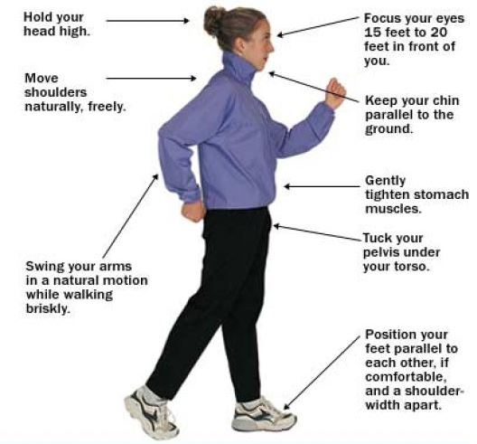 Aerobic walking helps in getting back your ideal weight